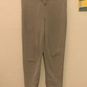 This is a pair of 3 gray girls sweatpants